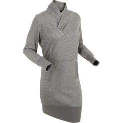 Długie sukienki: Sukienka dresowa, długi rękaw bonprix szary