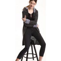 Swetry damskie: KARDIGAN DŁUGI RĘKAW DAMSKI LUŹNY