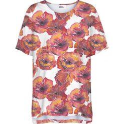 Colour Pleasure Koszulka damska CP-033 279 biało-czerwona r. uniwersalny. Białe bluzki damskie Colour pleasure, uniwersalny. Za 76,57 zł.