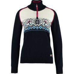 Swetry klasyczne damskie: Dale of Norway SKISKYTTER BIATHLON Sweter navy/sochi blue/off white/allium