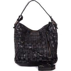 Torebki klasyczne damskie: Skórzana torebka w kolorze czarnym – 26 x 27 x 17 cm