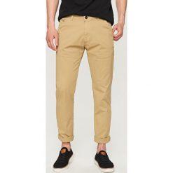 Rurki męskie: Spodnie chino slim fit - Beżowy