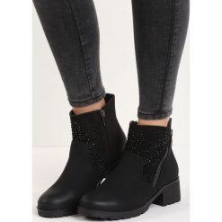 Czarne Matowe Botki Drizzling. Czarne buty zimowe damskie Born2be, na niskim obcasie. Za 89,99 zł.