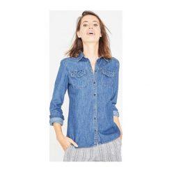 Jeansowa koszula. Szare koszule jeansowe damskie Promod, uniwersalny, z długim rękawem. Za 59,50 zł.