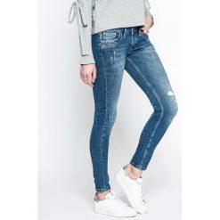 Pepe Jeans - Jeansy Ripple. Niebieskie jeansy damskie Pepe Jeans, z bawełny, z obniżonym stanem. W wyprzedaży za 339,90 zł.