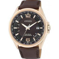 ZEGAREK CITIZEN Radio Controlled CB0017-03W. Brązowe zegarki męskie CITIZEN, ze stali. Za 1625,00 zł.