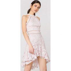 Sukienki hiszpanki: True Decadence Sukienka z koronką – Pink