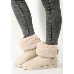 Beżowe Śniegowce Imagine. Białe buty zimowe damskie marki vices. Za 89,99 zł.