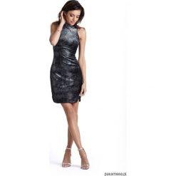 Sukienka KASANDRA bordowa. Czerwone sukienki mini marki Pakamera, dopasowane. Za 169,00 zł.