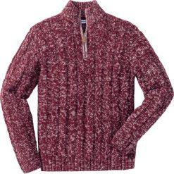 Sweter ze stójką Regular Fit bonprix czerwony rododendron melanż. Fioletowe golfy męskie marki bonprix, l, melanż. Za 109,99 zł.