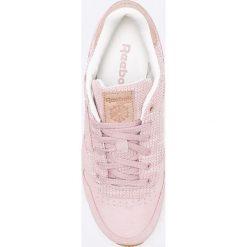 Reebok Classic - Buty Leather EBK. Szare buty sportowe damskie reebok classic marki Reebok Classic, z materiału. W wyprzedaży za 239,90 zł.