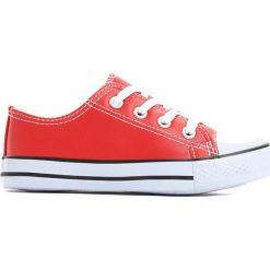 Czerwone Trampki Sandpit. Czerwone buty sportowe chłopięce marki Born2be, z materiału, z okrągłym noskiem, na zamek. Za 39,99 zł.