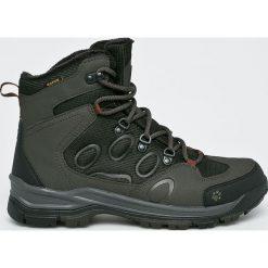 Jack Wolfskin - Buty. Szare buty trekkingowe męskie Jack Wolfskin, z materiału, na sznurówki, outdoorowe. Za 559,90 zł.