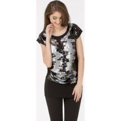Bluzki asymetryczne: Bluzka zdobiona cekinami