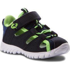 Sandały KANGAROOS - Rock Lite II 02001 000 4054 Dk Navy/Lime. Niebieskie sandały męskie skórzane marki KangaROOS. Za 129,00 zł.