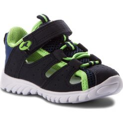 Sandały męskie skórzane: Sandały KANGAROOS – Rock Lite II 02001 000 4054 Dk Navy/Lime