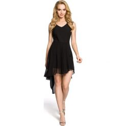 TRINITY Wieczorowa sukienka bez rękawów - czarna. Czarne sukienki asymetryczne Moe, z elastanu, wizytowe, z asymetrycznym kołnierzem, bez rękawów. Za 169,90 zł.