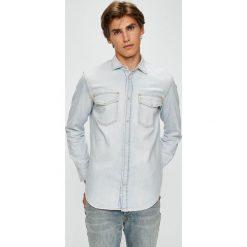 Diesel - Koszula. Szare koszule męskie jeansowe marki Diesel, l, z klasycznym kołnierzykiem, z długim rękawem. W wyprzedaży za 599,90 zł.