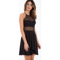 Czarna sukienka w grochy przezroczysta TA612 1. Czerwone sukienki marki Fasardi, l. Za 59,00 zł.