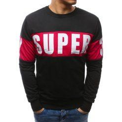 Bluzy męskie: Bluza męska z nadrukiem czarna (bx3462)