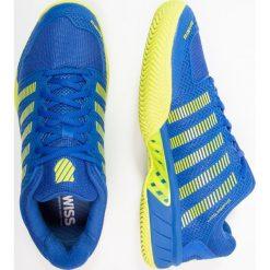KSWISS HYPERCOURT EXPRESS HB  Obuwie do tenisa Outdoor strong blue/neon citron. Niebieskie buty do tenisa męskie K-SWISS, z gumy. W wyprzedaży za 471,20 zł.