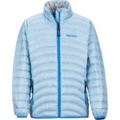 """Kurtka puchowa """"Aruna"""" w kolorze błękitnym. Niebieskie kurtki dziewczęce puchowe marki Marmot Kids, z puchu. W wyprzedaży za 195,95 zł."""