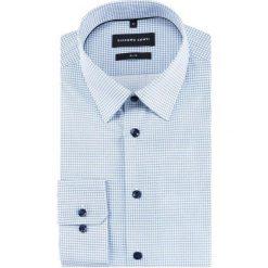 Koszula SIMONE KDNS000229. Szare koszule męskie na spinki Giacomo Conti, m, w geometryczne wzory, z bawełny, z klasycznym kołnierzykiem, z długim rękawem. Za 199,00 zł.