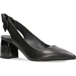 Czółenka AIKO. Czarne buty ślubne damskie Gino Rossi, ze skóry, na słupku. Za 299,90 zł.