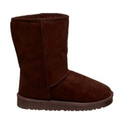 Skórzane botki w kolorze kawowym. Brązowe buty zimowe damskie Carla Samuel, na zimę. W wyprzedaży za 129,95 zł.