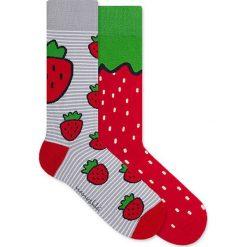 Nanushki - Skarpetki Funny Strawberry. Brązowe skarpetki damskie marki Nanushki, z bawełny. Za 25,90 zł.