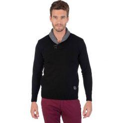 Swetry rozpinane męskie: Sweter w kolorze czarnym