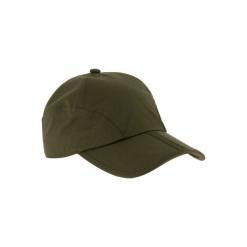 Czapka myśliwska z daszkiem IMPER składana. Brązowe czapki z daszkiem damskie SOLOGNAC, z bawełny. Za 39,99 zł.