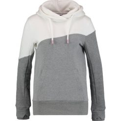 Bluzy rozpinane damskie: Bench HOODY COLOR BLOCK Bluza z kapturem snow white