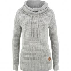 Sweter bonprix jasnoszary melanż. Szare swetry klasyczne damskie bonprix. Za 89,99 zł.