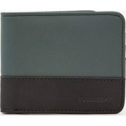 Portfele męskie: Dwukolorowy portfel z panelami i gumką