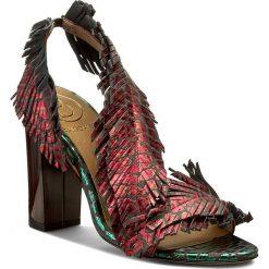 Rzymianki damskie: Sandały BALDOWSKI – D01511-3908-003 Ocelot Bordo/Zielony