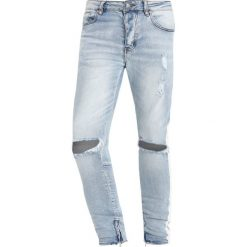 Jeansy męskie regular: Sixth June DESTROYED WITH WHITE BANDS Jeans Skinny Fit blue