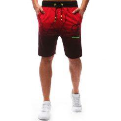 Spodenki i szorty męskie: Spodenki dresowe męskie czerwone (sx0573)