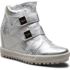 Sneakersy EKSBUT - 67-4635-369-1G Srebro. Szare sneakersy damskie Eksbut, ze skóry. W wyprzedaży za 259,00 zł.