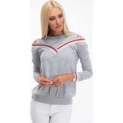 Bluzki damskie: Jasnoszara bluzka z odkrytymi ramionami 3649