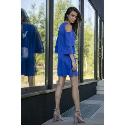 Chabrowa Koktajlowa Sukienka z Wyciętymi Ramionami. Niebieskie sukienki koktajlowe marki Reserved, z odkrytymi ramionami. Za 149,90 zł.
