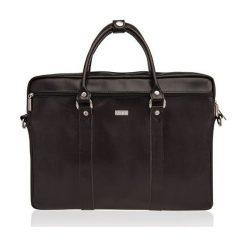 Torba Solier Skórzana torba na ramię laptopa Solier MARCEL. Czarne torby na laptopa marki Solier. Za 388,77 zł.