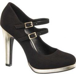Czółenka damskie Catwalk czarne. Czarne buty ślubne damskie Catwalk, z materiału, na obcasie. Za 99,90 zł.