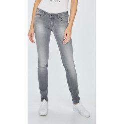 Tommy Jeans - Jeansy Scarlett. Szare jeansy damskie rurki marki Tommy Jeans, z bawełny, z obniżonym stanem. Za 449,90 zł.