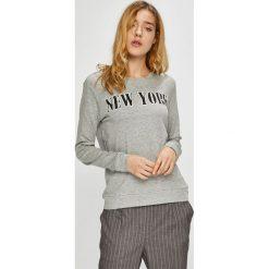Jacqueline de Yong - Bluza. Szare bluzy z nadrukiem damskie marki Jacqueline de Yong, l, z bawełny, bez kaptura. Za 69,90 zł.