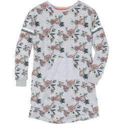Koszula nocna z kieszonką kangurką bonprix jasnoszary melanż z nadrukiem. Szare koszule nocne i halki marki bonprix, melanż. Za 54,99 zł.