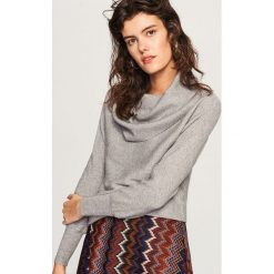 Sweter z obszernym golfem - Jasny szar. Szare golfy damskie marki Reserved, l. Za 79,99 zł.