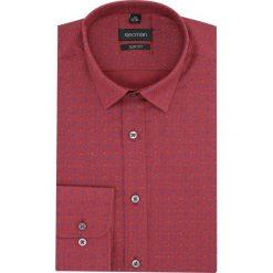 Koszula versone 2856a długi rękaw slim fit czerwony. Czerwone koszule męskie slim Recman, m, z długim rękawem. Za 149,00 zł.