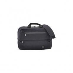 "Torba na laptopa Wenger WindBridge 16"", czarna 602819. Czarne torby na laptopa marki Wenger, w paski. Za 300,15 zł."