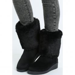 Czarne Śniegowce Lights Of Home. Czarne buty zimowe damskie marki Cropp. Za 79,99 zł.